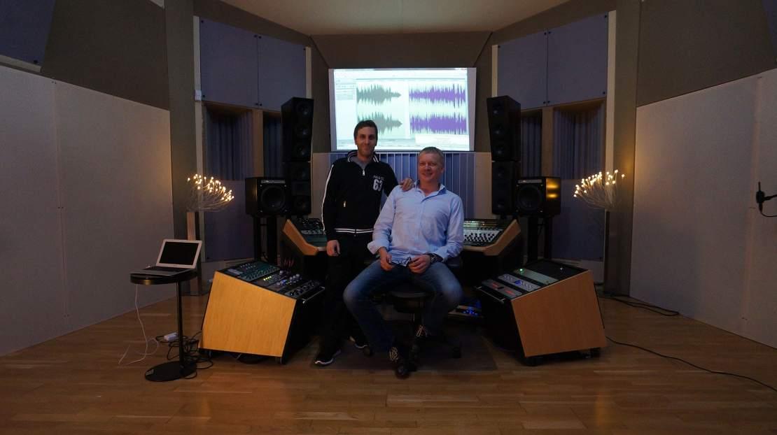 Nick Litwin und Markus Bertram im Regieraum