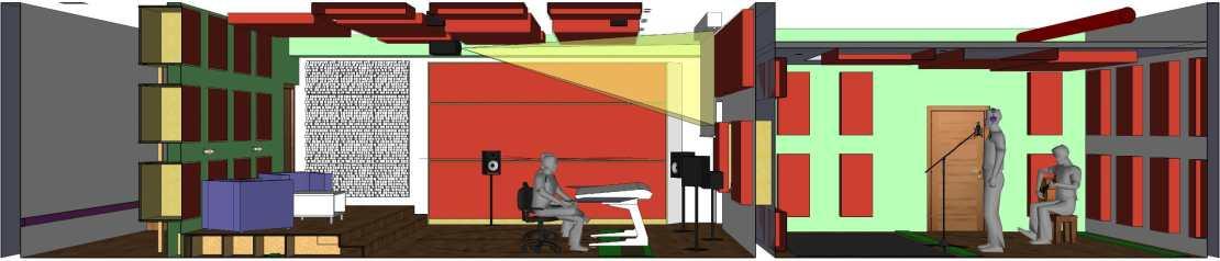 CAD Längsschnitt durch das Bauer Studio 2