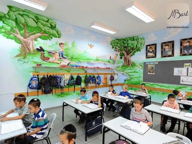 ציורי קיר למוסדות חינוך