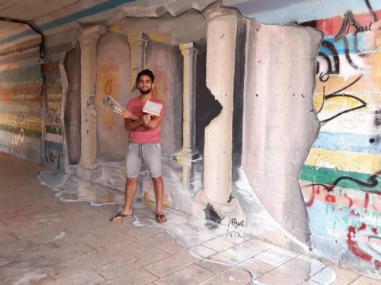 ציור תלת מימד על קיר