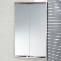Saeta Corner Cabinet - Bathroom Mirrored Cabinets ...