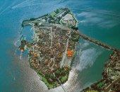 Luftbild der Lindauer Insel