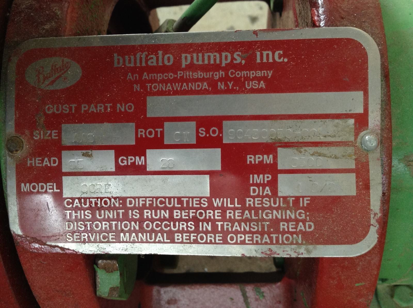 Buffalo Pumps Inc