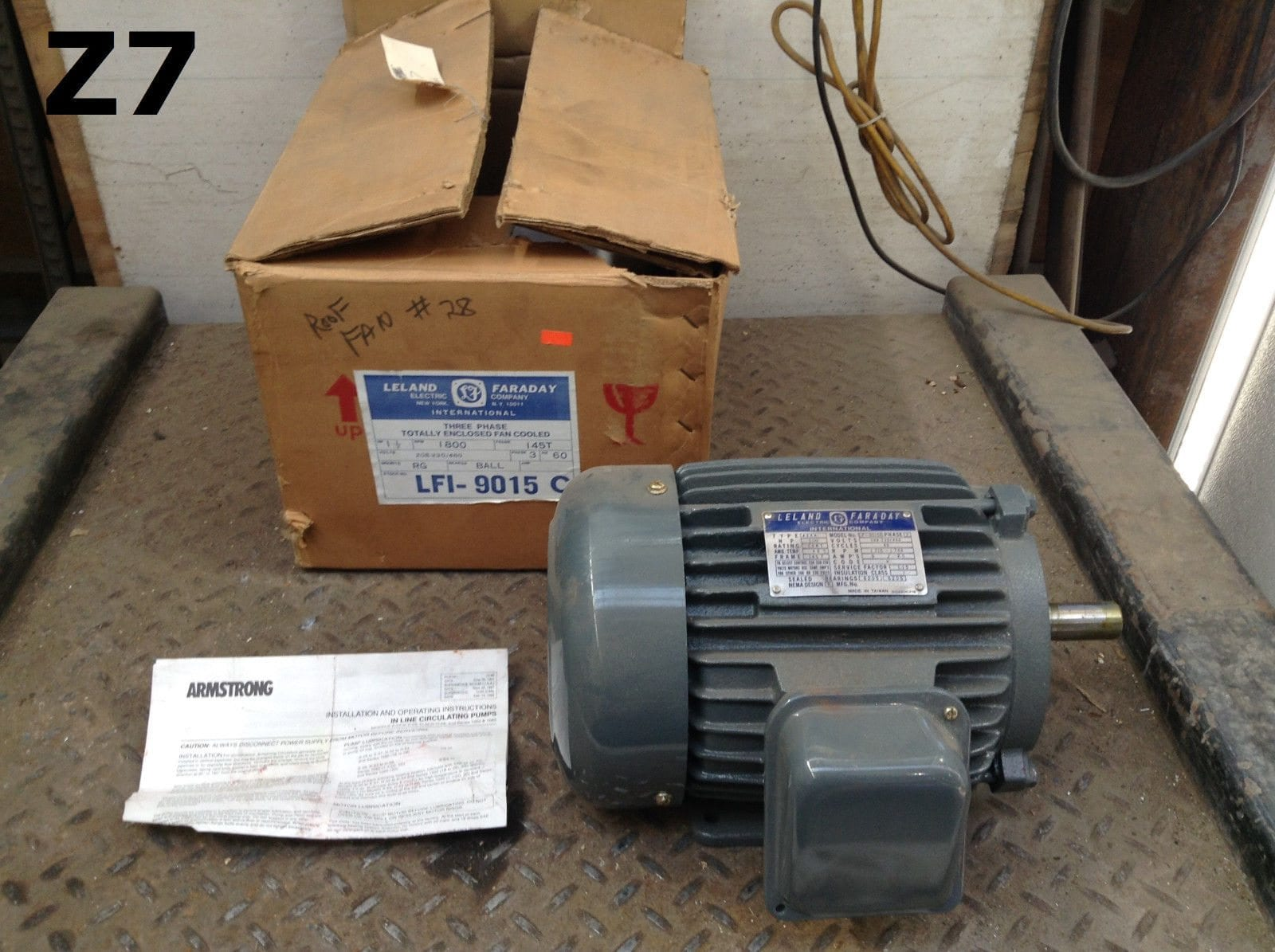 Leland Electric Motor Wiring Diagram 400 Amp Service Faraday 1hp 1720 Rpm 250v Complete A