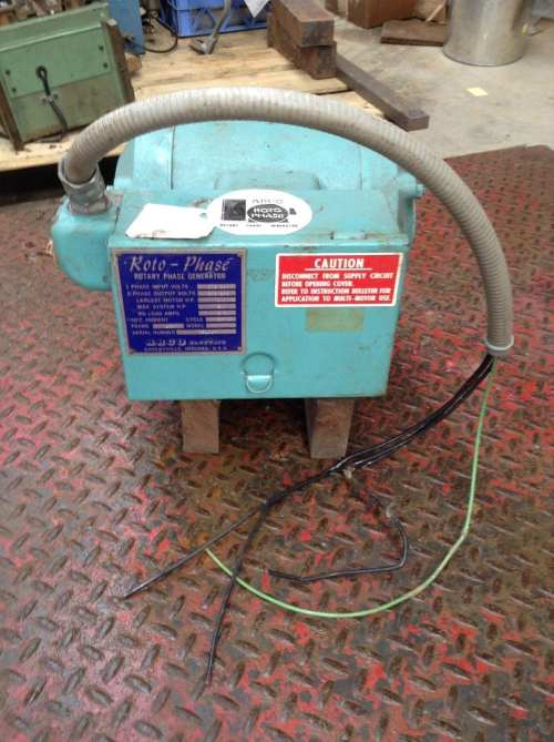 small resolution of 9hp arco roto phase model m rotary phase converter generator9hp arco roto phase