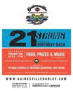 Gainesville Harley-Davidson 21st Birthday Bash
