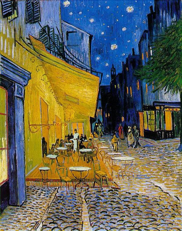 a clean well lighted place mockingbird vincent painted cafatildecopy terrace at night in 1888 after moving to arles in the south of that past he had hoped to found an artist s