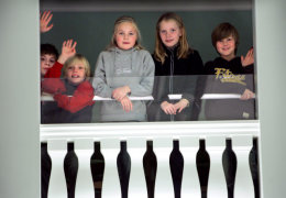 Icelandic children watch the Parliament at work