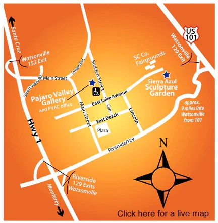 Click on the image for a live map of PVAC