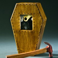 3D coffin shaped box and hammer  Angela Gleason