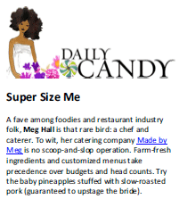 Daily Candy Article Featuring Meg Hall