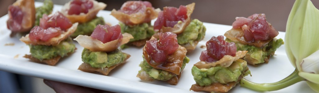 Tuna and Avocado Crostini | Catered by Made By Meg