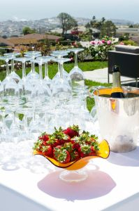 Champagne and Glasses | Catered by Made By Meg