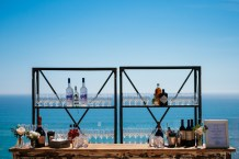 Wedding Bar Station Oceanview Setting