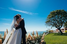 Bride and Groom Oceanview Setting