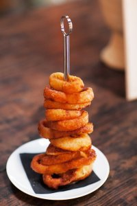 Onion Rings at Wedding at Big Daddy's Antiques | Made By Meg Catering