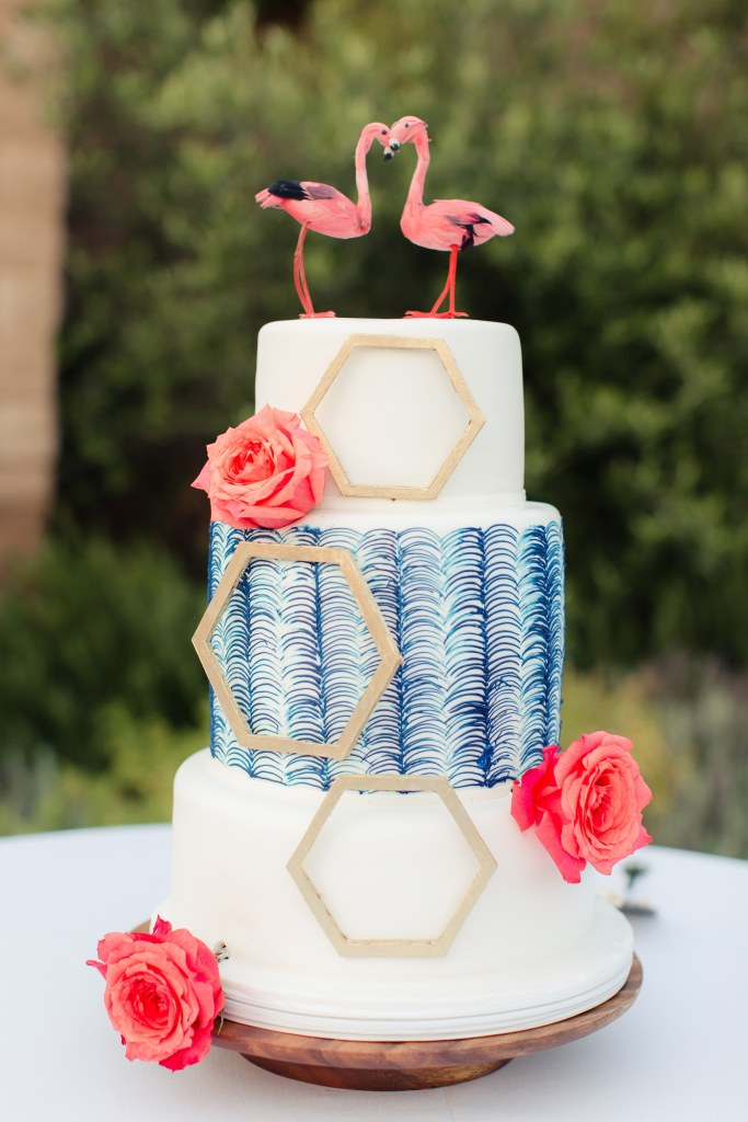 Wedding Cake at Catalina View Gardens | Catered by Made By Meg