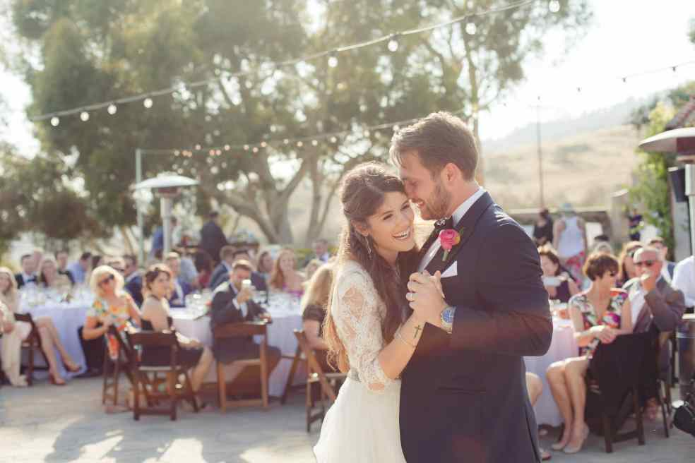 Bride and Groom's First Dance at Catalina View Gardens | Catered by Made By Meg