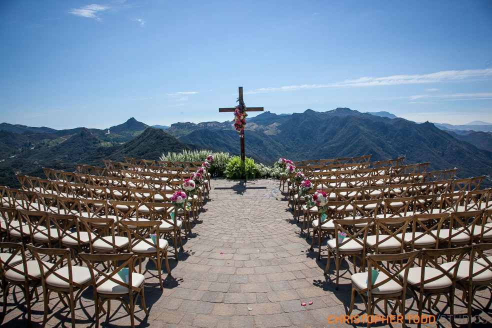 Outdoor Reception at Malibu Rocky Oaks Wedding | Catered by Made By Meg