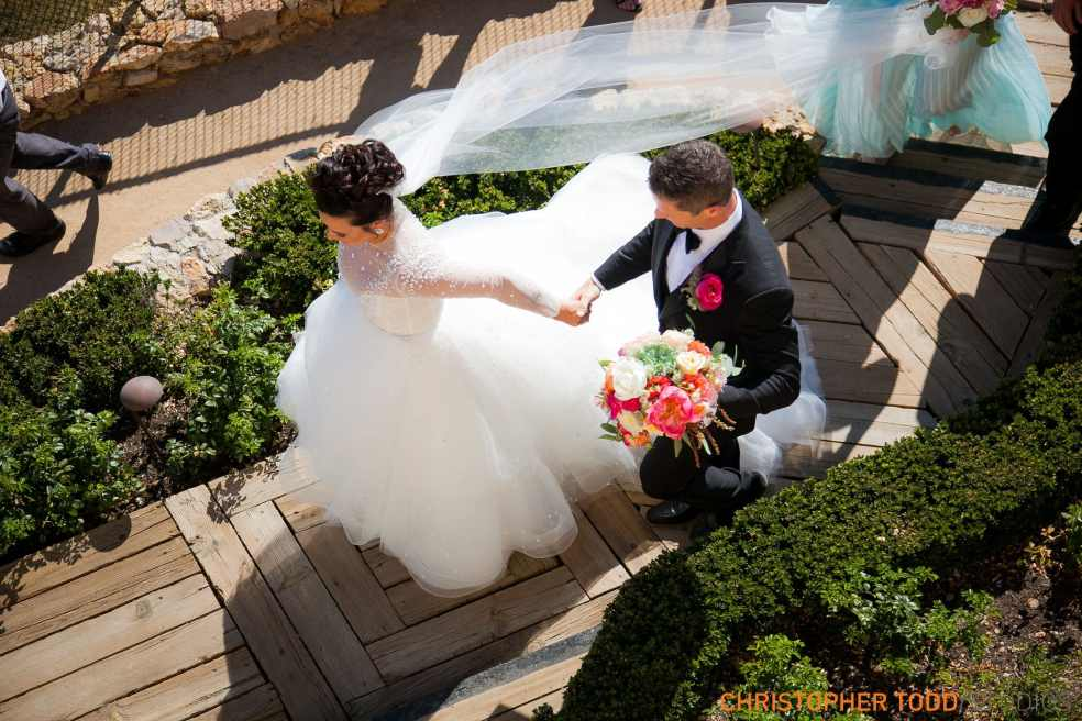 Bride and Groom at Malibu Rocky Oaks Wedding | Catered by Made By Meg