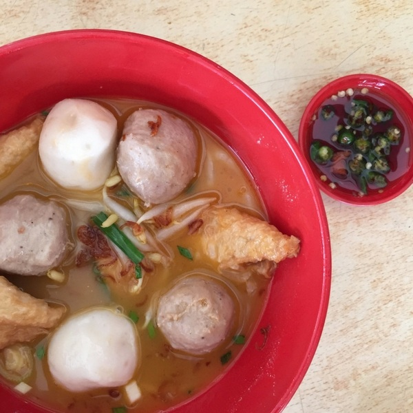 Hock Chew Fishball, Fu Pei and Pork Meatball