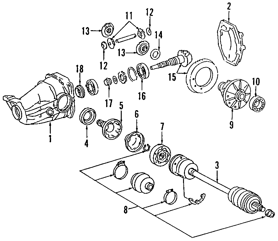 1987 Mercedes-Benz Carrier ASSEMBLY. DIFFERENTIAL CASE