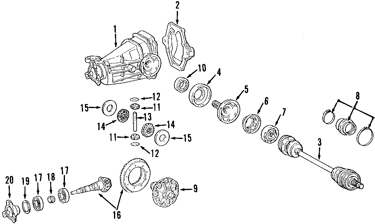 2007 Mercedes-Benz ML63 AMG Differential Pinion Bearing