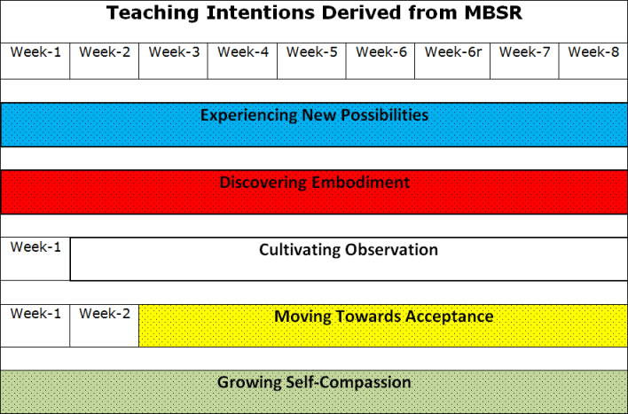 Mindfulness training teaching intentions