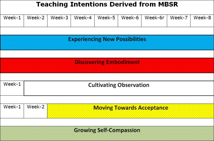 Mindfulness training teaching intentions