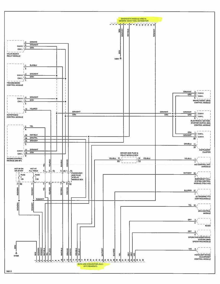 Mercedes Benz W210 schematics