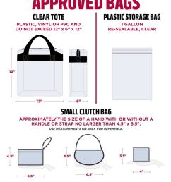 a printable summary of stadium bag policy game day security information can be  [ 920 x 1068 Pixel ]