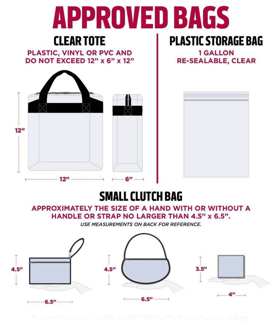 medium resolution of a printable summary of stadium bag policy game day security information can be