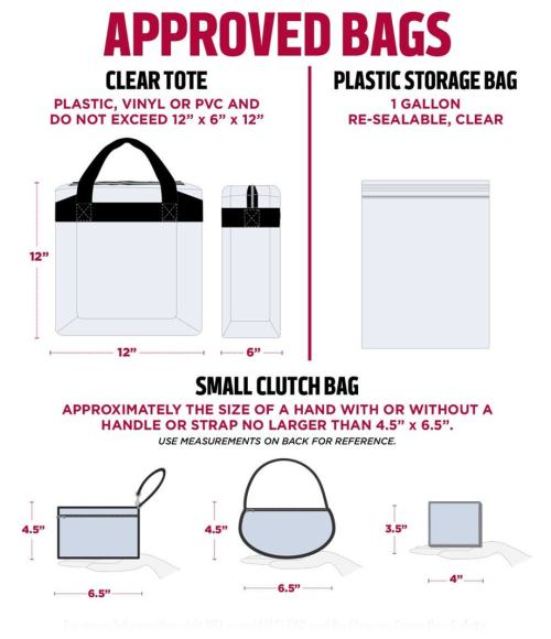 small resolution of a printable summary of stadium bag policy game day security information can be