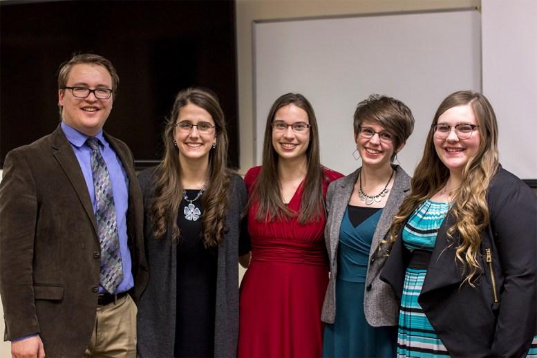five students of Literature Capstone