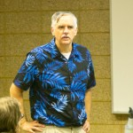 Mr. Z in his blue Hawaiian shirt