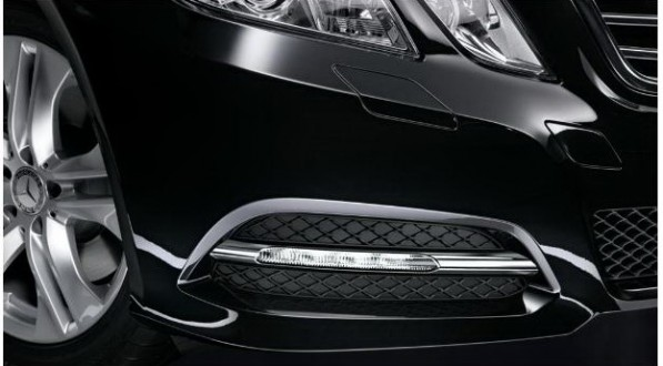2011leddl 597x330 LED daytime running lights for the new E Class sedan