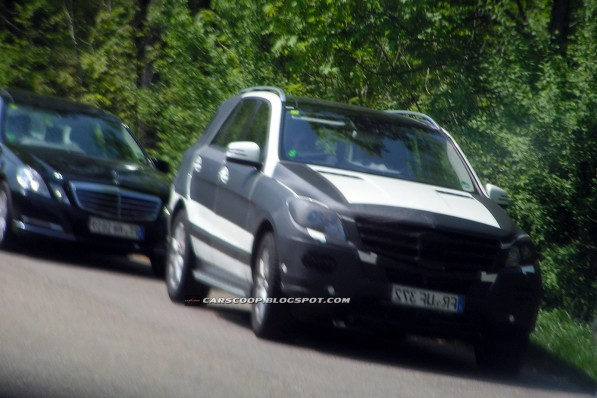 2012 Mercedes ML 755 597x398 Spied in Germany: the next M Class SUV