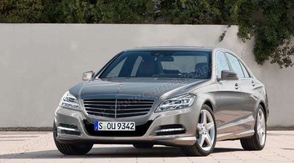 MercedesS class 2012 1 597x331 New S Class models provide a real taste of sci fi tech