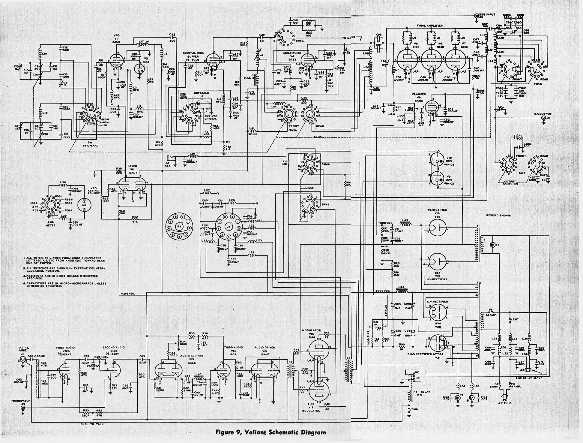 hight resolution of 1955 1962 e f johnson viking valiant am cw transmitter wiegand wiring diagram johnson radio wiring diagram