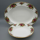 SET OF THREE Royal Albert Bone China OLD COUNTRY ROSES Oval Servers