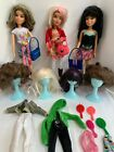Lot Of 3 2009 Spin Master Articulated LIV Dolls With 7 Wigs 4 Stands And More