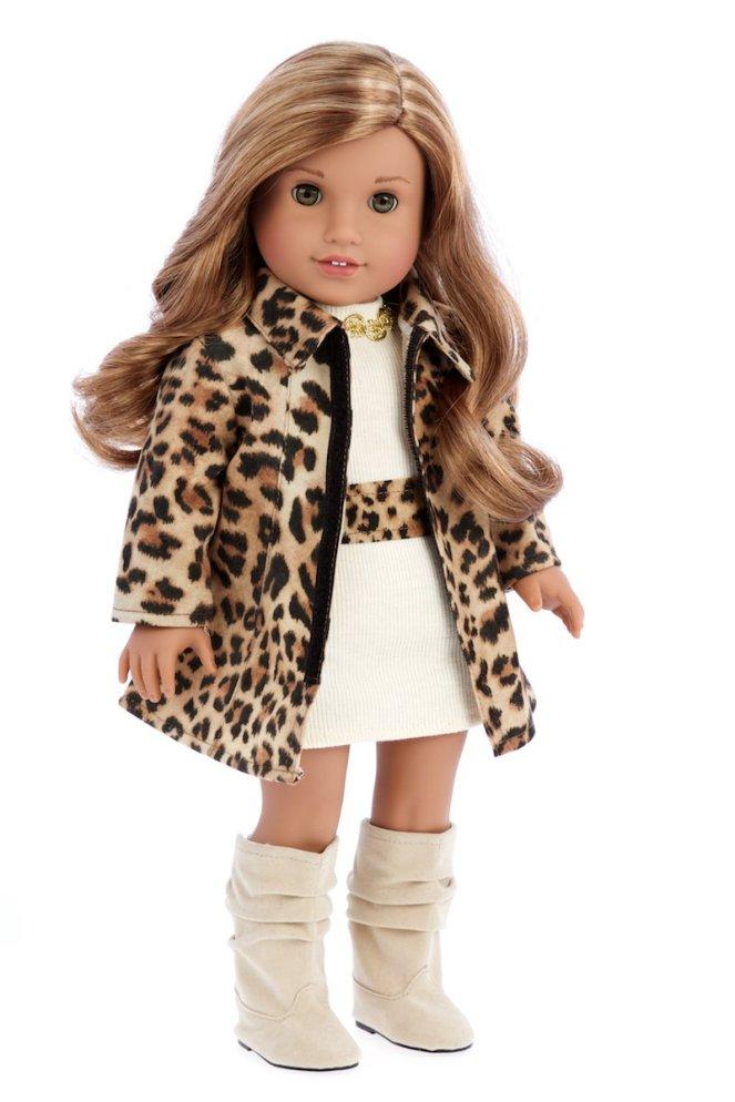 American Girl Doll Clothes, Cheetah Coat