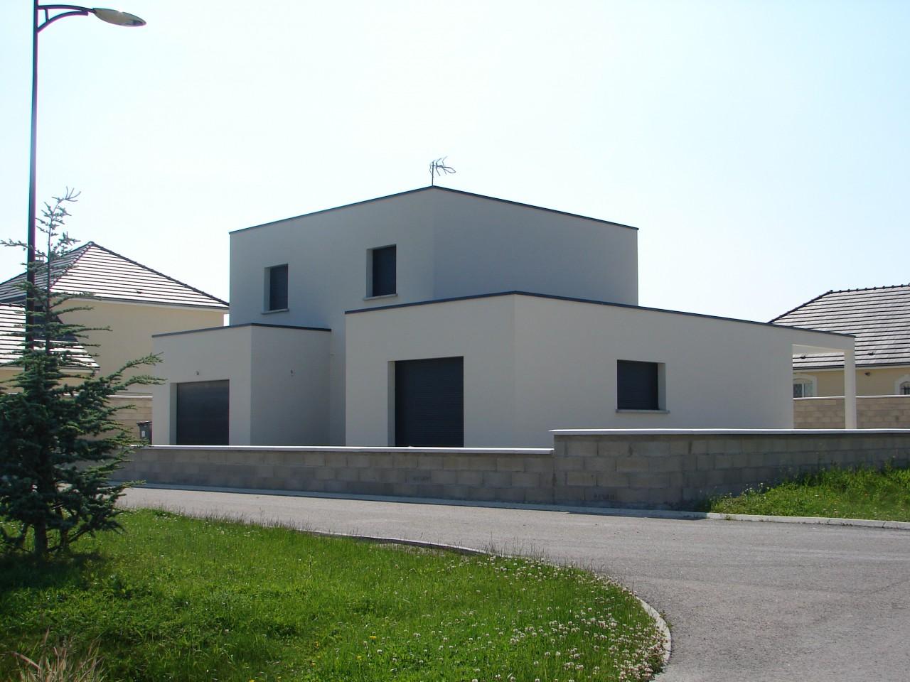 Maison moderne cubique  Mc immo