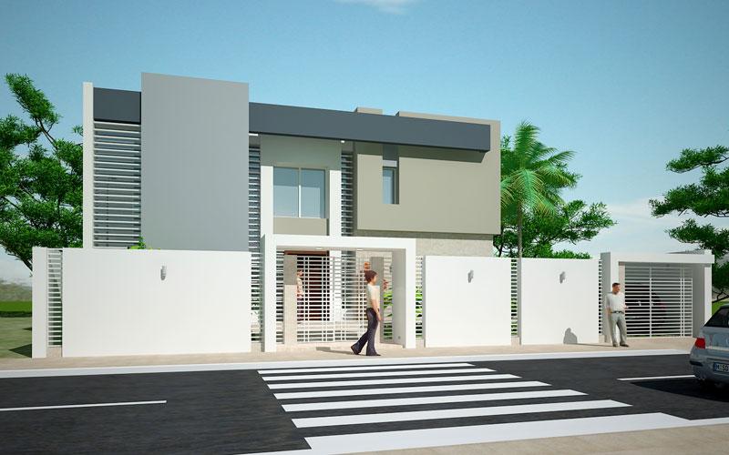Faade villa moderne  Mc immo