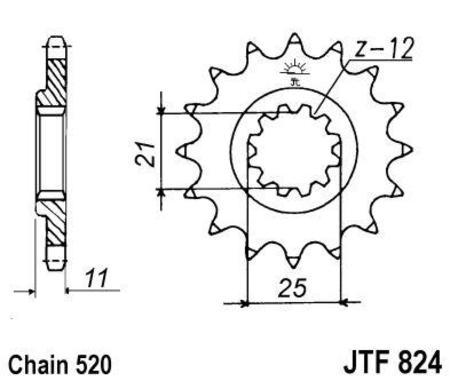 ketjuratas etu ( JT 824 ) 14z