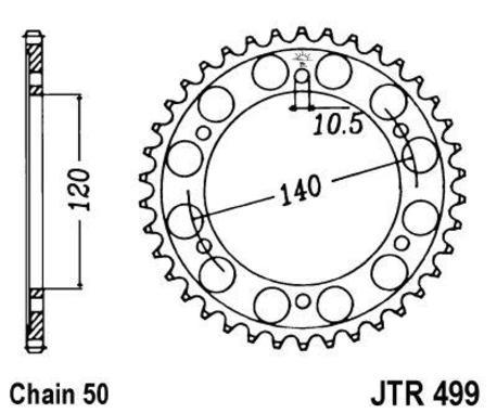 ketjuratas taka ( JTR 499 ) 45z