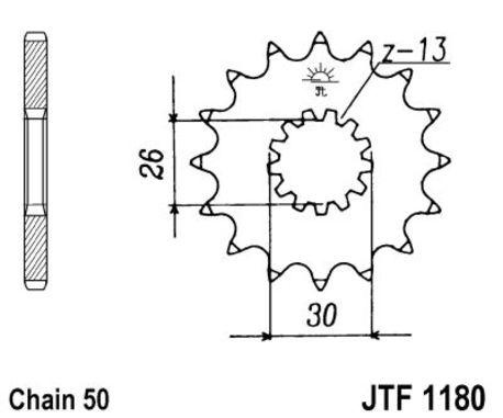 ketjuratas etu ( JT 1180 ) 19z
