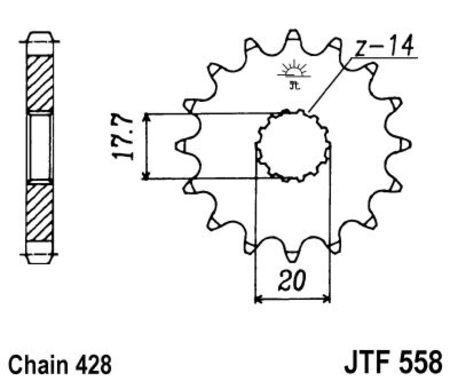 ketjuratas etu ( JT 558 ) 16z