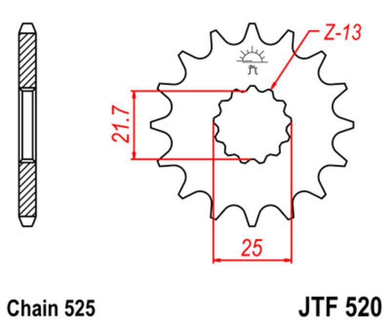 ketjuratas etu ( JT 520 ) 15z