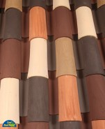 Classic Tapered 2-piece mission clay roof tile, CB404-SC Laguna Del Monte Blend